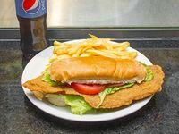 Promo - Sándwich de milanesa + papas fritas + Pepsi 500 ml