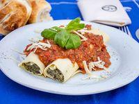 Canelones con salsa filetto (2 unidades)