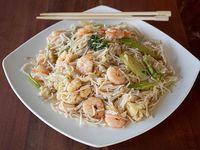 Chaumín de camarón con verduras