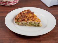 Tarta de zucchini, jamón, queso y choclo