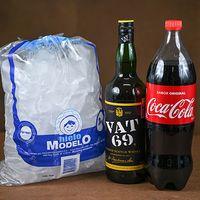 Whisky Vat 69 L + Coca Cola 1.5 L + Hielo bolsa 3 Kg