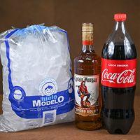 Morgan L + Coca Cola 1.5 L + Hielo Bolsa 3 Kg