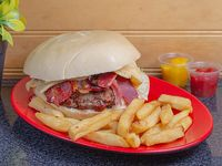 Sándwich de hamburguesa rodeo