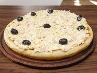 Pizza de jamón al puerro