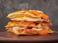 Tortilla americana al estilo waffle