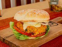 Hamburguesa vegana de quinoa y zanahoria