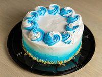 """Cake de vainilla decoración caballero (redondo 8"""")"""
