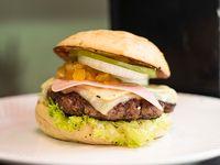 Hawaiana Burger + Papa a la Francesa