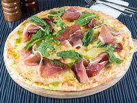 Pizza prosciutto verdi individual