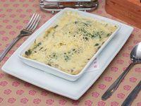 Lasagna de espinaca con champignon