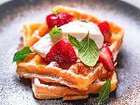 Waffles con Fresas