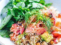 Ensalada de Quinoa con Salmón Curado