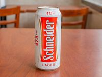 Lata de cerveza Schneider 473 ml