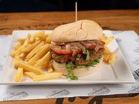 Hamburguesa Veggie + Papas fritas