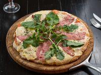Pizza italiana de rúcula y panceta 30 cm (para 2 personas)
