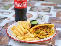 Combo - Arepa Veggie + papas fritas + pepsi de 500 ml