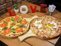 Promoción - 2 Pizzetas margaritas con dos gustos a elección