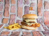 Hamburguesa Mixta Carne + Apanado