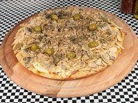 Pizza mediana 32 cm con champiñones