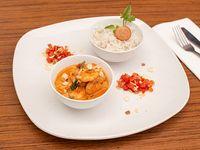 Curry rojo picante de camarón
