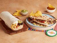 Combo 1 - Burrito de tu elección + quesadilla de tu elección