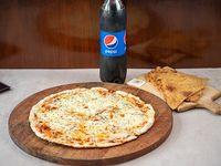 Promoción - Pizzeta muzzarella (42 cm) + 2 Fainá + refresco Pepsi 1.5 L