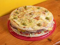 Promoción - Lomo pizza de 8 porciones con papas fritas