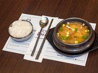 Un arroz con Sopa de soja