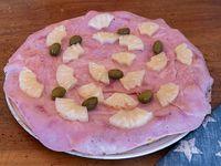 Pizza con ananá y jamón