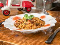 Spaguettis con verduras en salsa de soja