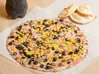 Promo 2 - Pizza mediana + 4 empanadas de queso + gaseosa línea Coca Cola 1.5 L