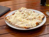 Pizza muzzarella con un gusto