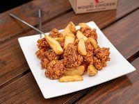 Caja Regular - Pollo frito crispy con salsa soja especiada y papas fritas
