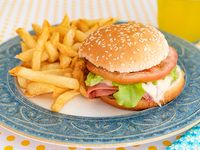Promo - Hamburguesa con papas fritas