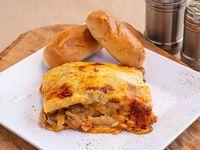Lasagna Pollo y Bolognesa