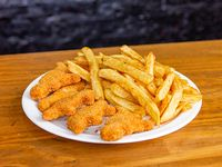 Menú infantil - 5 dinosaurios de pollo + papas fritas