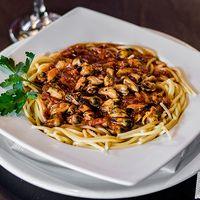 Spaguetti con salsa de mejillones