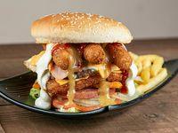 Combo - Danny's burger + Papas fritas + Soda en lata