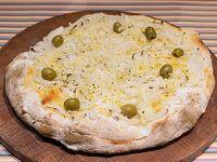 Pizza fugazzeta rellena con muzzarella