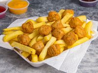 Promo - 10 chicken popper + papas fritas