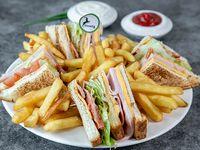 Club sándwich + Soda