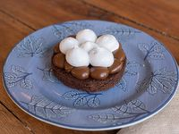 Brownie con dulce de leche y merengue italiano (mini cake)