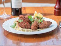 Falafel - Porción de falafel + tabule + hummus de garbanzos