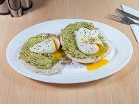 Huevos pochados palta (2 unidades)