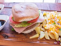 Promoción - Hamburguesa + PapCheddar + Salsas