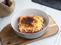 Berenjena a la parmesana con fileto y mozzarella