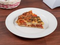 Tarta de tomate, queso, mozzarella y albahaca