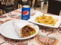 Promo II - Shawarma + gaseosa lata 354 ml + papas fritas