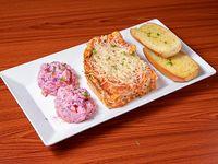 Menú - Lasagna de carne + acompañamiento + bebida