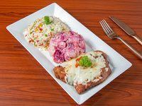 Menú - Milanesa de pollo + acompañamiento + bebida